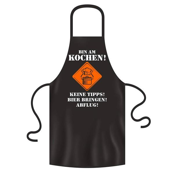 Original BBQ-Solutions Grill-Schürzen und Kochschürzen Bin am Kochen