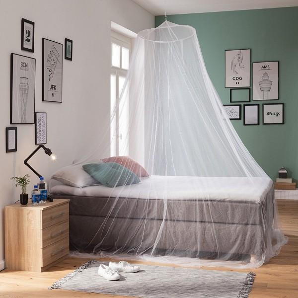 Moskitonetz Übergröße XXL ohne Eingang WHO empfohlen passend für Doppelbetten