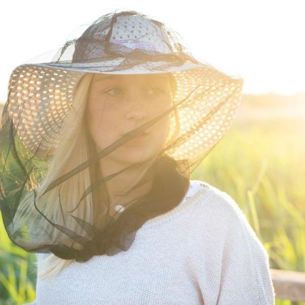 Moskitonetz Kopfschutz Kopfschutznetz Kopfnetz schwarz optimale Sicht