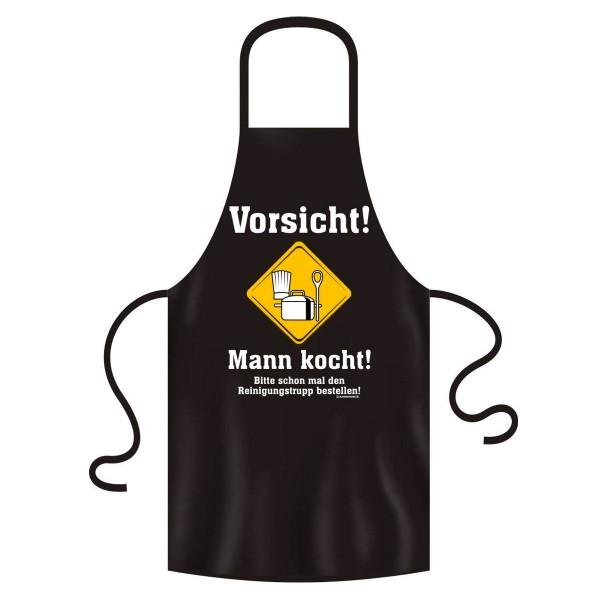 Kochschürze Vorsicht Mann kocht original Rahmenlos