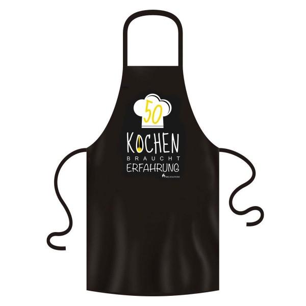 Kochschürze Geschenk zum 50. Geburtstag Kochen braucht Erfahrung